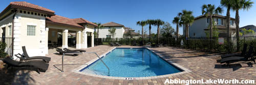 The social center of the community for Abbington residents, and a great place to relax on a sunny Florida weekend.