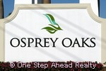 Osprey Oaks community sign