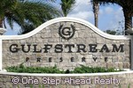 Gulfstream Preserve community sign